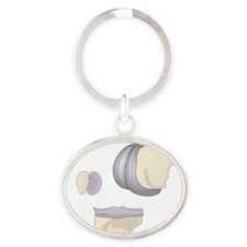 Knee replacement, artwork - Oval Keychain