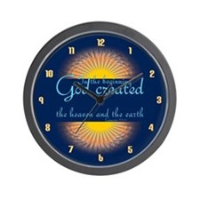 Genesis 1 1 Bible Verse Sunrise Wall Clock