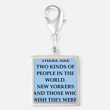 new york Silver Square Charm