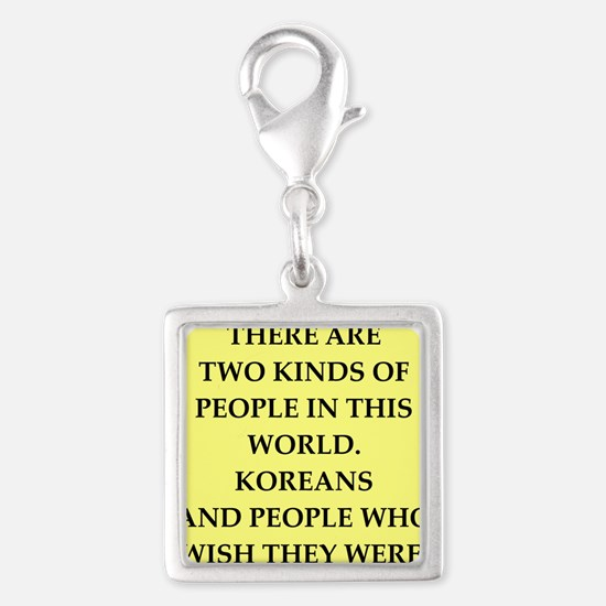 korea Silver Square Charm