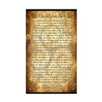 Wiccan Rede Sticker (Rectangle)