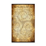Wiccan Rede 35x21 Wall Decal