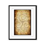 Wiccan Rede Framed Panel Print