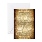 Wiccan Rede Greeting Cards (Pk of 10)