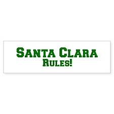 Santa Clara Rules! Bumper Bumper Sticker