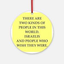 ISRAELI Ornament (Round)