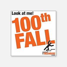 """100th FALL Square Sticker 3"""" x 3"""""""