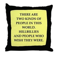 hillbilly Throw Pillow