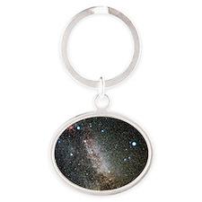 Cygnus and Lyra constellations - Oval Keychain