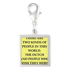 dutch Silver Square Charm