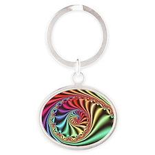 Julia set fractal - Oval Keychain
