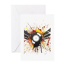 Vinyl Winged Graffiti Greeting Card