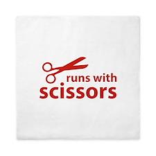 Runs With Scissors Queen Duvet