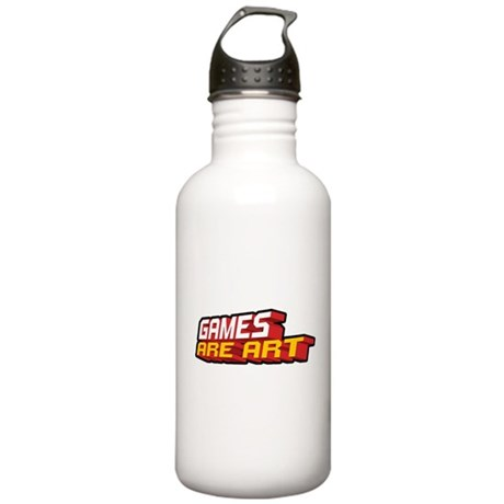 Games Are Art Stainless Water Bottle 1.0L