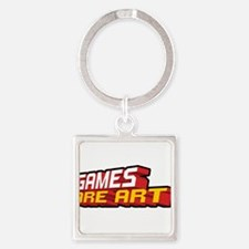 Games Are Art Square Keychain