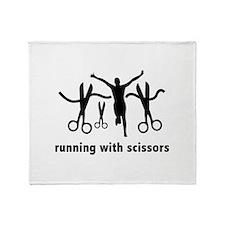 Running With Scissors Throw Blanket