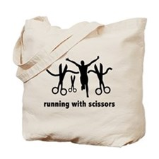 Running With Scissors Tote Bag