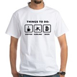 Curling Mens White T-shirts
