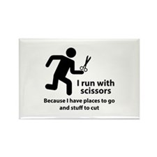 I Run With Scissors Rectangle Magnet (10 pack)