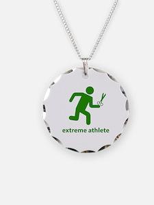 Extreme Athlete Necklace Circle Charm