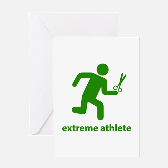 Extreme Athlete Greeting Card