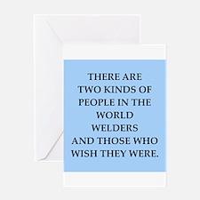 welder Greeting Card