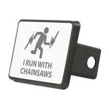 I Run With Chainsaws Hitch Cover
