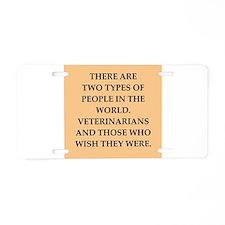vets Aluminum License Plate
