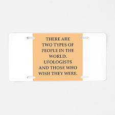 ufologist Aluminum License Plate