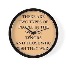 TENORS Wall Clock