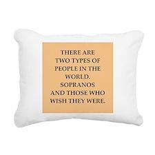 soprano Rectangular Canvas Pillow
