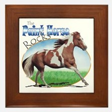 Paint Horse Rocks Framed Tile