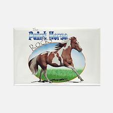 Paint Horse Rocks Rectangle Magnet