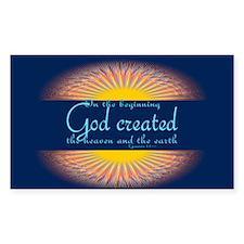 Genesis 1 1 Bible Verse Sunrise Decal