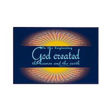 Genesis 1 1 Bible Verse Sunrise Rectangle Magnet