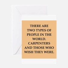 carpenter Greeting Card