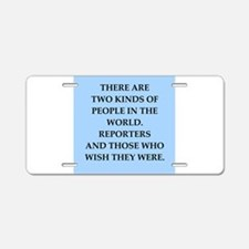 reporter Aluminum License Plate