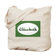 Elizabeth: Green Oval Tote Bag