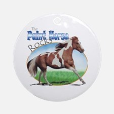 Paint Horse Rocks Ornament (Round)