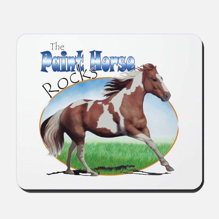 Paint Horse Rocks Mousepad