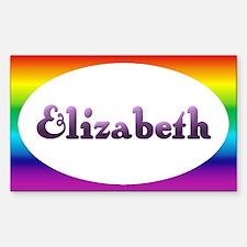 Elizabeth: Rainbow Oval Rectangle Decal