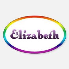 Elizabeth: Rainbow Oval Oval Decal