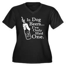 Dog Beers Women's Plus Size V-Neck Dark T-Shirt