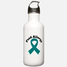 Food Allergy Teal Ribbon Water Bottle