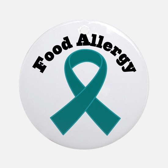 Food Allergy Teal Ribbon Ornament (Round)