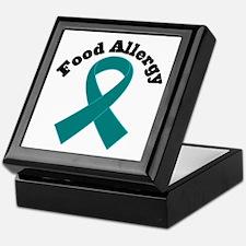 Food Allergy Teal Ribbon Keepsake Box