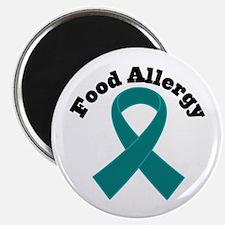 "Food Allergy Teal Ribbon 2.25"" Magnet (100 pack)"