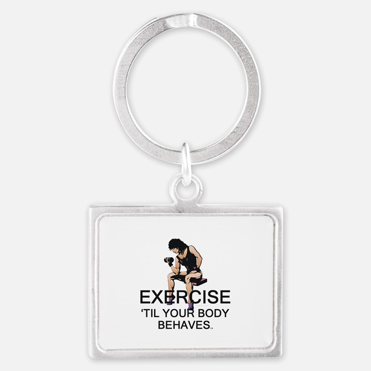 TOP Exercise Slogan Landscape Keychain