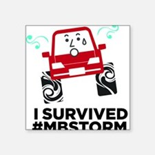 "I survived #mbstorm Square Sticker 3"" x 3"""