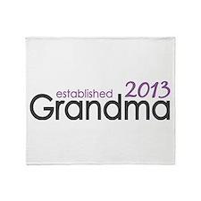 New Grandma Est 2013 Throw Blanket